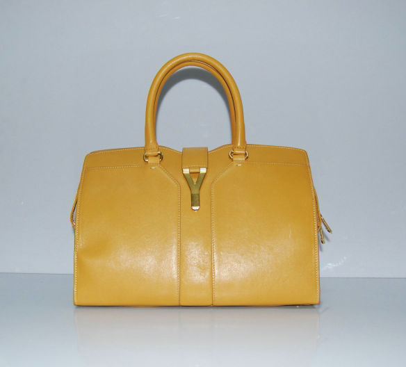 YSL Cabas 2012-Yves Saint Laurent Cabas Chyc In Apricot Women's Top Handle Bag 136126