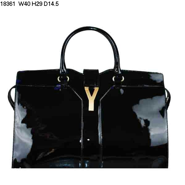 YSL Cabas 2012-Yves Saint Laurent Cabas Chyc In Patent Leather Women's Top Handle Leather Bag 26397