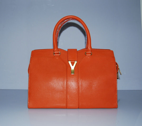 YSL Cabas 2012-Yves Saint Laurent Cabas Chyc In Orange Suede Women's Top Handle Bag 110133