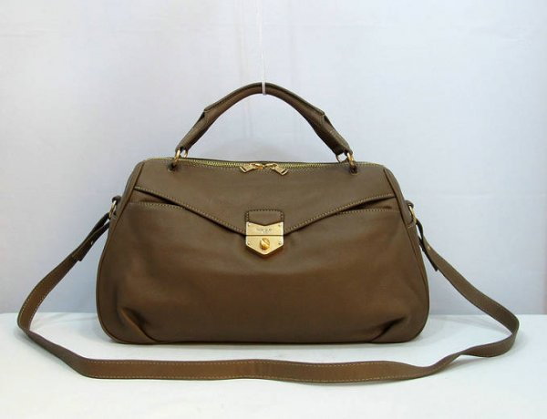Yves Saint Laurent Dandy Bag In Coffee Textured Leather