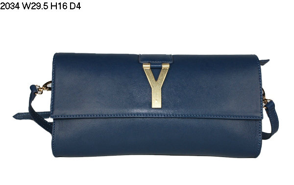 2013 YSL Bags-Yves Saint Laurent Chyc Clutch In Sapphire 152614