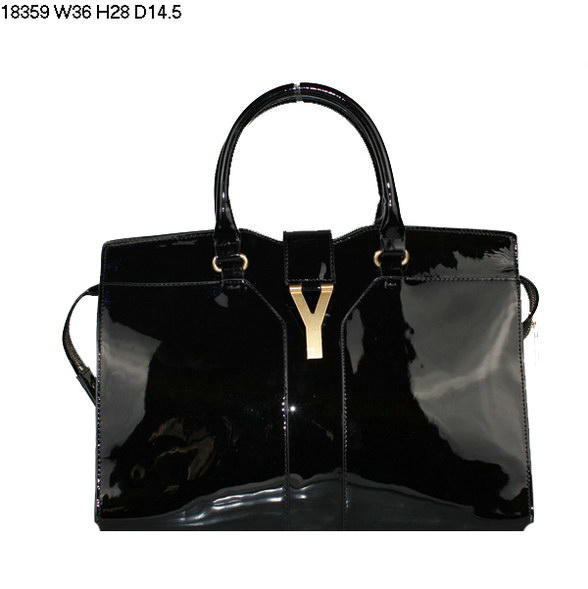 YSL Cabas 2012-Yves Saint Laurent Cabas Chyc In Black 738163