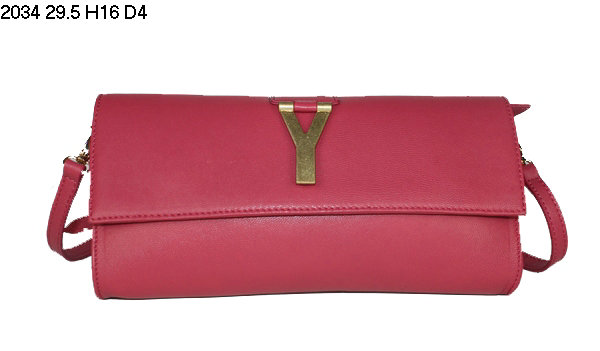 2013 YSL Bags-Yves Saint Laurent Chyc Clutch In Watermelon Red 152582