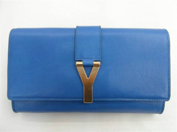 YSL Bags 2013-Yves Saint Laurent Clutch In Blue 158301