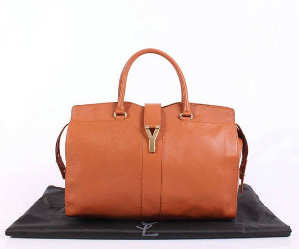 YSL Cabas 2012-Yves Saint Laurent Cabas Chyc In Orange Leather Women's Top Handle Bag 26382