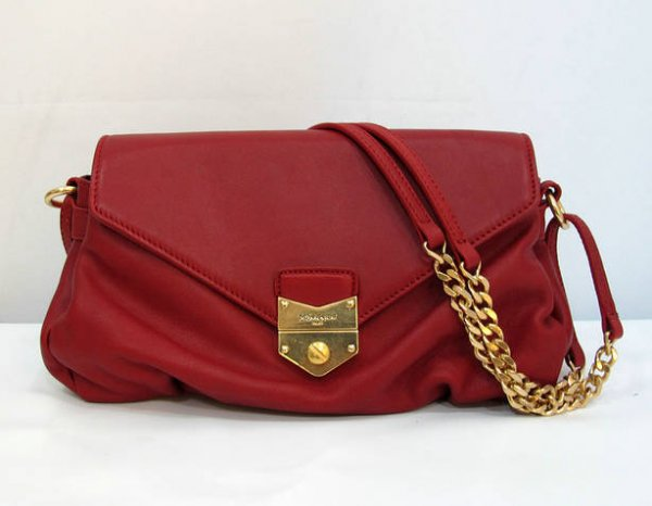 Ysl Dandy Flap Bag In Red Textured Leather99981