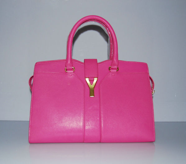 YSL Cabas 2012-Yves Saint Laurent Cabas Chyc In Fuchsia Suede Women's Top Handle Bag 136118