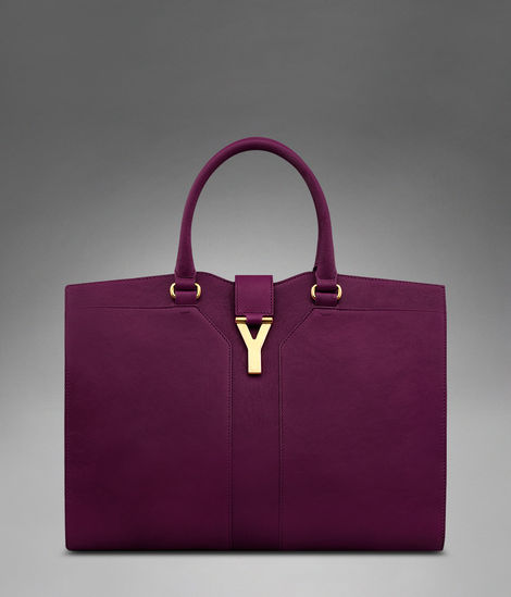 YSL Cabas 2012-Yves Saint Laurent Cabas Chyc In Purple Women's Top Handle Leather Bag 99976
