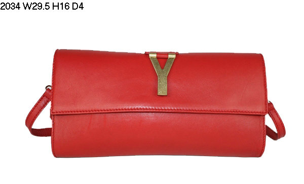 2013 YSL Bags-Yves Saint Laurent Chyc Clutch In Red 152600
