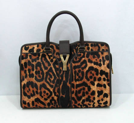 Yves Saint Laurent Ysl Cabas Chyc Tote Bag Medium Leopard 99980