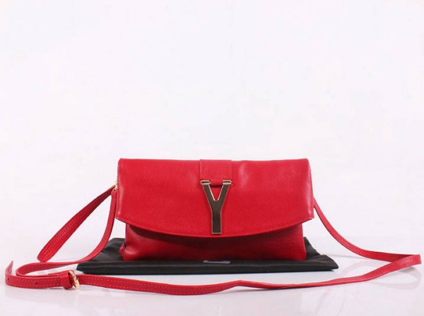 47242c73d3 2013 YSL Bags-Yves Saint Laurent Chyc In Red Leather Women s Shoulder Bag  26385