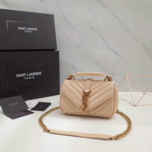 Classic Saint Laurent Baby Monogram Satchel in Matelasse Leather with Gold Hardware