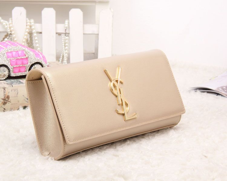 2012 cheap yves saint laurent y clutch in green leather