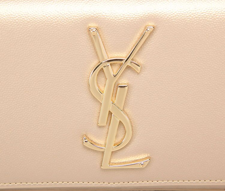 -2014 Cheap YSL Classic Monogramme Saint Laurent Clutch in apricot,YSL CLUTCH 2014