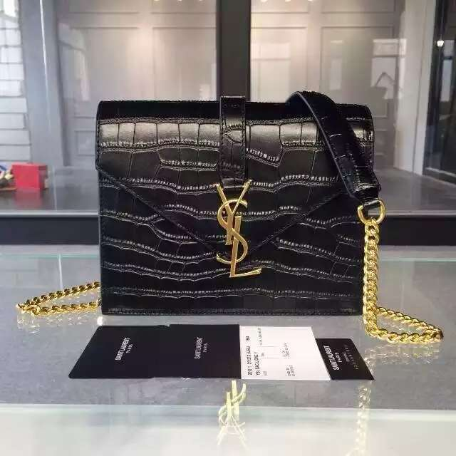 replica yves saint laurent lutetia clutch black