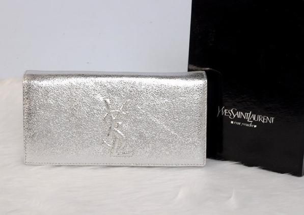 2013 YSL Clutches-Yves Saint Laurent Belle De Jour Patent-Leather Clutch