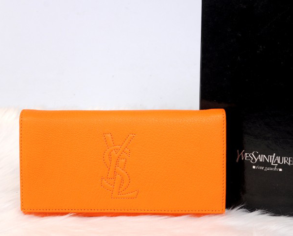 2013 YSL Clutches in orange,YSL Bags 2013 online