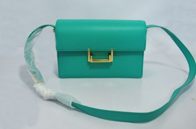 2013 YSL Classic Medium Lulu Bag in Green Leather
