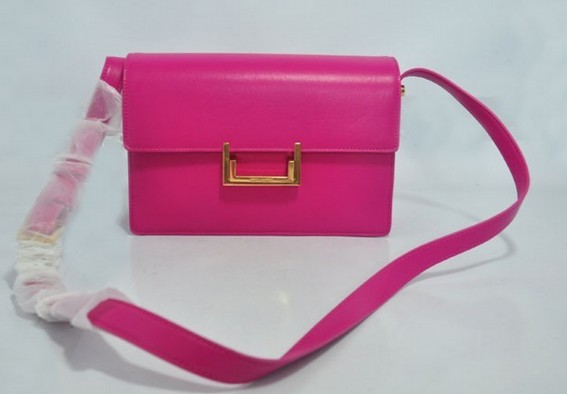 2013 YSL Classic Medium Lulu Bag in pink leather