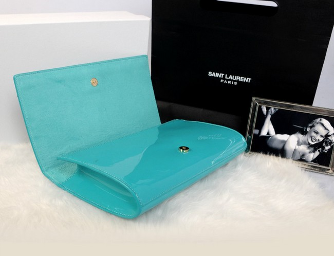 YSL wallet 2013,Yves Saint Laurent Belle De Jour Patent Leather Clutch green